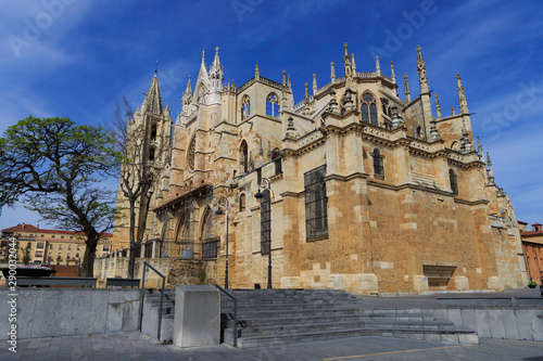 Fotografija  León,Spain,4,2015;One of the most beautiful gothic cathedrals in Spain