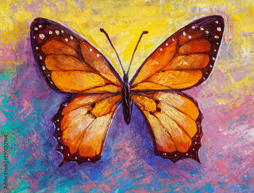 Fotografie, Obraz  abstract painting butterfly