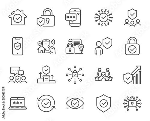 Fotografía Security line icons