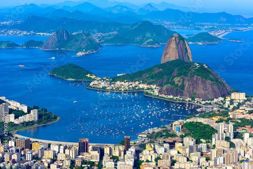 Obrazy Rio De Janeiro  gora-sugarloaf-i-botafogo-w-rio-de-janeiro-w-brazylii