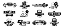 Gym Badges. Bodybuilding Stenc...