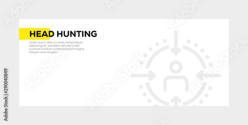 HEAD HUNTING BANNER CONCEPT Canvas Print