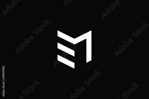 Logo design of M EM ME in vector for construction, home, real estate, building, property Canvas Print