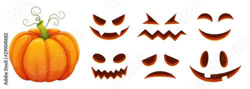Halloween pumpkin faces generator Canvas
