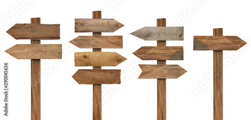 Obraz wood wooden sign arrow board plank signpost - fototapety do salonu