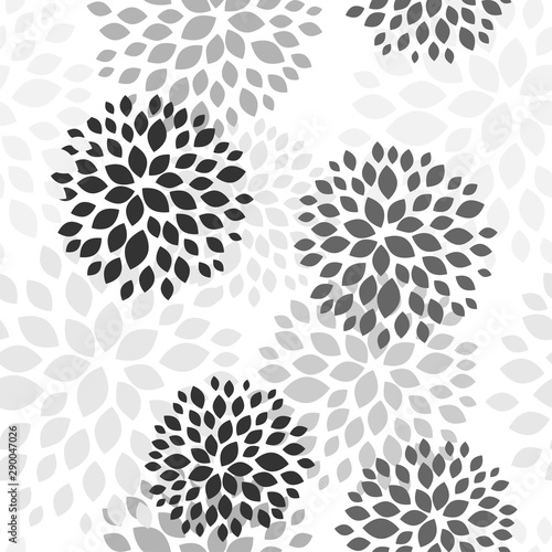 Spring floral background. Vector design illustration. Abstract flowers seamless pattern on colorful background. Vintage vector set. Spring blossom. Decorative floral pattern. - 290047026
