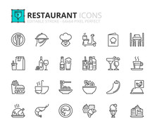 Outline Icons About Restaurant