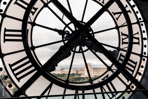 27 July 2019, Paris, France: Famous Clock at the Orsay Museum interior Fototapet