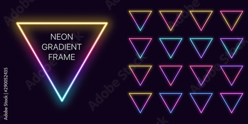 Neon gradient triangle Frame with copy space Wallpaper Mural
