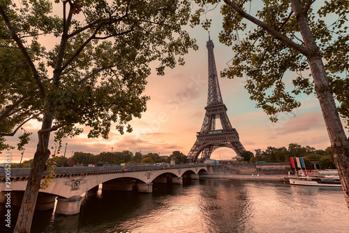The symbol of Paris and all of France is the elegant and unique Eiffel tower Canvas Print