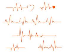 Pulse Line Vector. Medicine Mo...