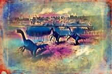 Dinosaur Art Illustration Pain...
