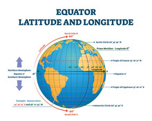 Equator Latitude Or Longitude ...