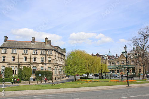 Harrogate town in Yorkshire, England