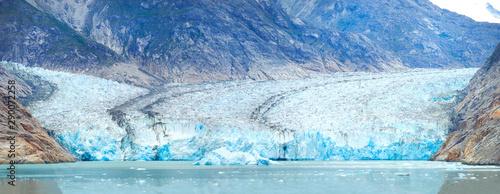 Closeup Panorama of the Dawes Glacier in Alaska Wallpaper Mural