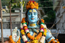 Statue Shiva, Hindu Idol On Th...