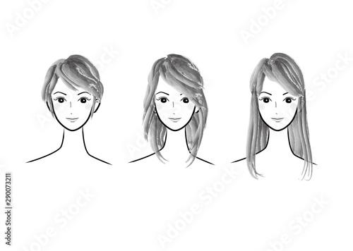 人物,女性,女の人,若い,若い女性,女子,女の子,正面,白バック,白