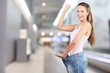 canvas print picture - Weight Loss Woman, isolated on  background