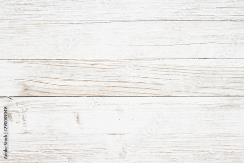 Weathered whitewash wood textured background - 290089049
