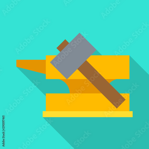 Fotomural Vector illustration of hammer and hephaestus icon