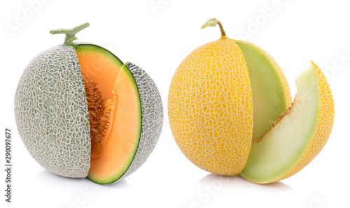Fotografia melon isolated on white background