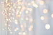canvas print picture holiday, illumination and decoration concept - bokeh of christmas garland lights over grey background