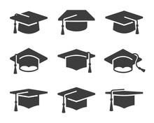 Set Of Vector Graduation Icons