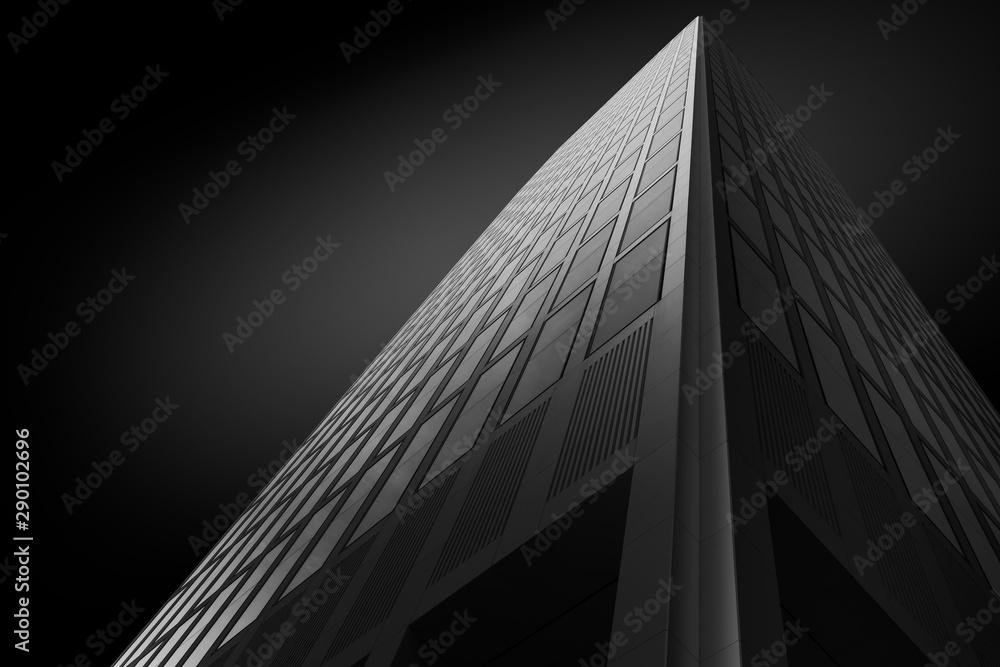 Fototapeta Fassade eines modernen Bürogebäudes als Fineart