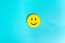Positive Funny Smiley Face On ...
