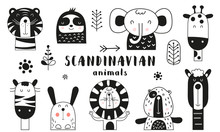 Bw Scandinavian Animals Set. H...