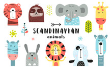 Cute Scandinavian Animals Set....
