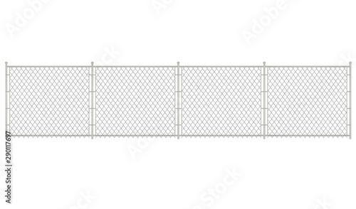 Vászonkép Grey chain fence. vector illustration