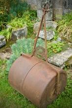 Old Rusty Garden Roller