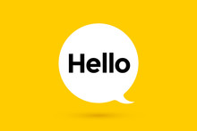 Hi, Hello. Banner, Speech Bubble, Poster And Sticker