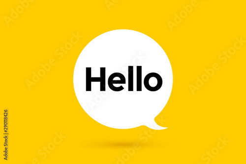 Fotomural  Hi, Hello. Banner, speech bubble, poster and sticker