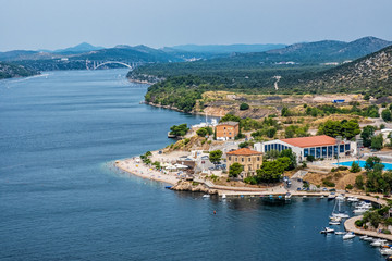 View from St. Michael's Fortress, Sibenik, Croatia