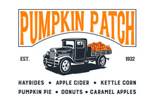 Pumpkin Patch With Old Truck