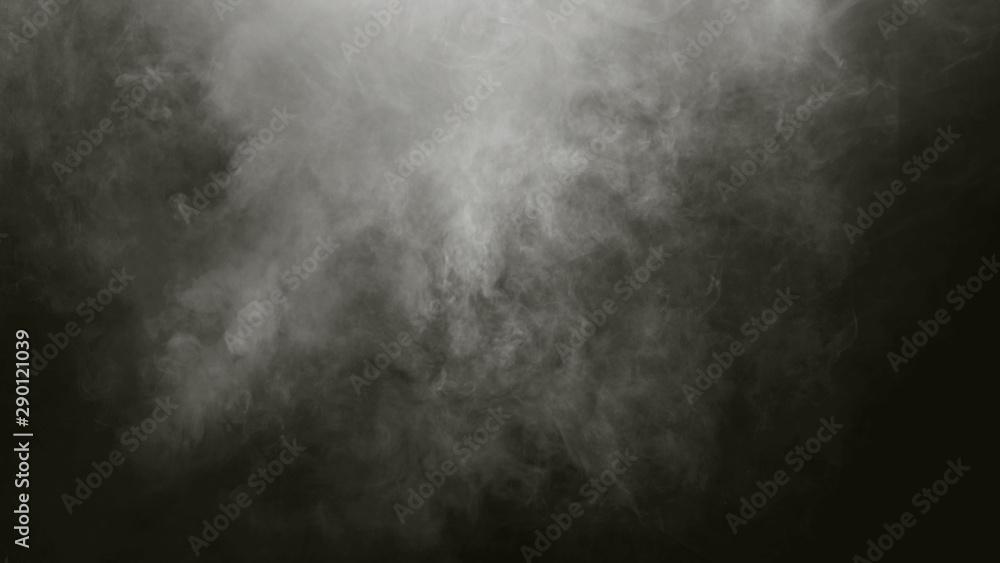 Fototapeta white Fog smoke air overlays