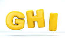 Font Glossy Plastic Yellow, Le...