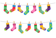Set Of Colorful Socks