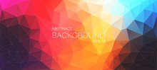 Colorful Flat Background With Triangles Shapes