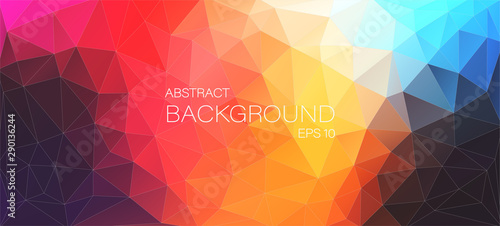 Obraz Colorful flat background with triangles shapes - fototapety do salonu