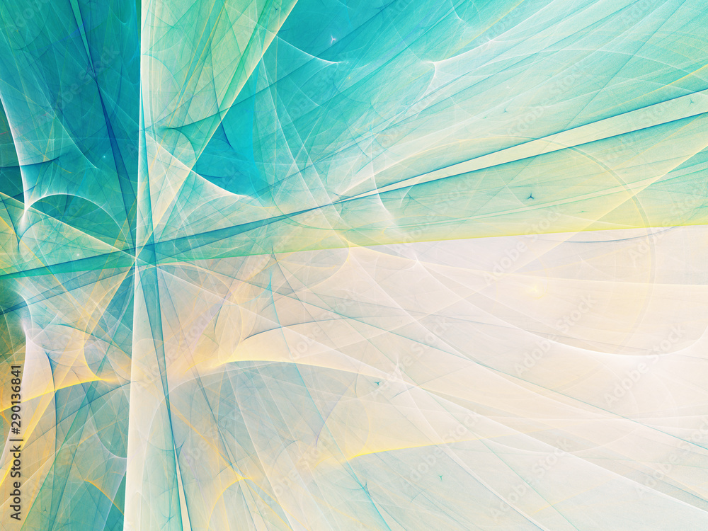 Fototapeta blue abstract fractal background 3d rendering illustration