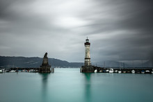 Lighthouse And Harbor Entrance...