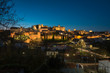Night cityscape of the monumental city of Cáceres, UNESCO World Heritage City, Extremadura, Spain.