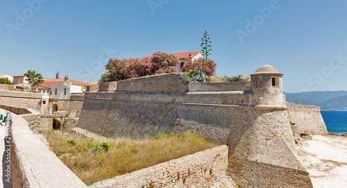 Fotografering Fortress Miollis on the sea beach in Ajaccio, Corsica, France.