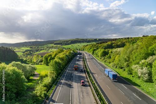 Foto auf AluDibond Himmelblau German Autobahn