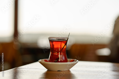 Turkish Tea on classic glass, it is a tradition serve after food any Turkish res Canvas Print