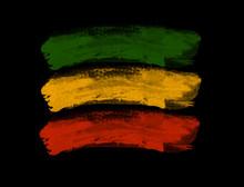 Green Yellow Red Brush, Reggae Background