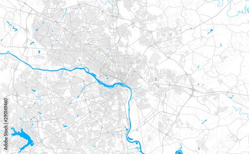 Fotografia Rich detailed vector map of Richmond, Virginia, U.S.A.